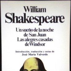 Libros de segunda mano: SUEÑO DE UNA NOCHE DE VERANO - W. SHAKESPEARE - CLÁSICOS UNIVERSALES Nº 17 - PLANETA - 1983. Lote 33961170