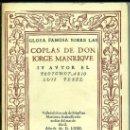 Libros de segunda mano: GLOSA FAMOSA SOBRE LAS COPLAS DE JORGE MANRIQUE - FACSÍMIL (ESPASA CALPE, 1975). Lote 33996465