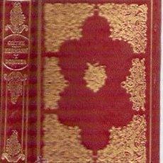 Libros de segunda mano: GOETHE: HERMANN Y DOROTEA. Lote 34521288