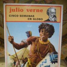 """Livros em segunda mão: """"CINCO SEMANAS EN GLOBO"""" DE JULIO VERNE. EDITORIAL MOLINO, 1ª EDICION 1.989.. Lote 34727518"""