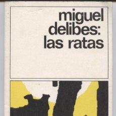 Libros de segunda mano: LAS RATAS - MIGUEL DELIBES - DESTINOLIBRO Nº 8 - 15ª EDICION 1988 - 175 PGS. Lote 34992035