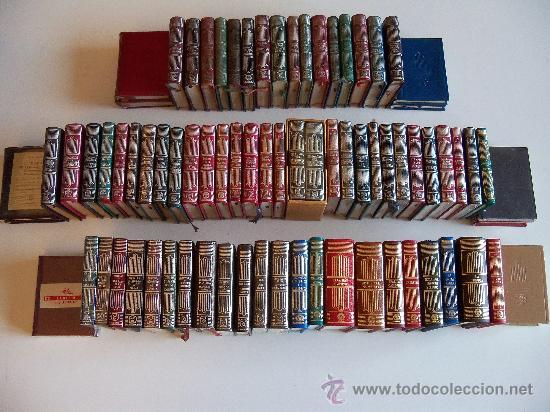 AGUILAR COLECCIÓN CRISOL (CRISOLIN) CASI COMPLETA 77 LIBROS MINIATURA (MUY DIFÍCIL DE ENCONTRAR) (Libros de Segunda Mano (posteriores a 1936) - Literatura - Narrativa - Clásicos)