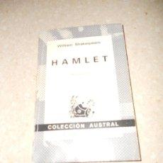 Libros de segunda mano: HAMLET. WILLIAM SHAKESPEARE. Lote 36319107