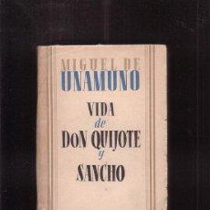 Libros de segunda mano: VIDA DE DON QUIJOTE Y SANCHO / AUTOR: MIGUEL DE UNAMUNO. Lote 36379714