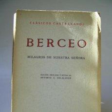 Libros de segunda mano: MILAGROS DE NUESTRA SEÑORA. BERCEO. Lote 36400887