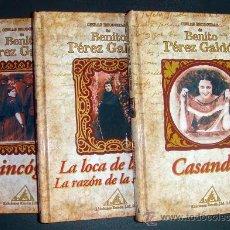 Libros de segunda mano: OBRAS ESCOGIDAS-B. PEREZ GALDOS-LA INCÓGNITA-CASANDRA-LA LOCA DE LA CASA-LA RAZÓN DE LA SINRAZÓN. Lote 36444079