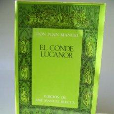 Libros de segunda mano: EL CONDE LUCANOR. DON JUAN MANUEL. Lote 36532431