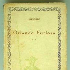 Libros de segunda mano: ORLANDO FURIOSO ARIOSTO CIEN MEJORES OBRAS LITERATURA ESPAÑOLA COMPAÑÍA IBEROAMERICANA PUBL Nº 63. Lote 36553906
