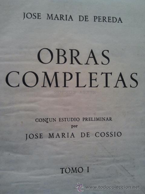 Libros de segunda mano: Jose María Pereda. Obras completas. 2 tomos. Editorial Aguilar, Madrid 1954. - Foto 2 - 37190855