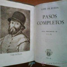 Libros de segunda mano: 1ª EDICIÓN 1944 PASOS COMPLETOS - LOPE DE RUEDA / CRISOL 48. Lote 37929758