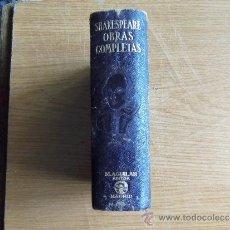 Libros de segunda mano: WILLIAM SHAKESPEARE -- OBRAS COMPLETAS -- EDITORIAL AGUILAR-. Lote 38335916