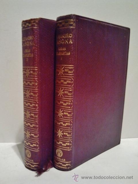 ALEJANDRO CASONA. OBRAS COMPLETAS. AGUILAR 1961. 2ª EDICIÓN, 1ª EN ESTA COLECCIÓN. TOMO I Y II. (Libros de Segunda Mano (posteriores a 1936) - Literatura - Narrativa - Clásicos)