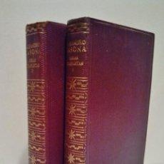 Libros de segunda mano: ALEJANDRO CASONA. OBRAS COMPLETAS. AGUILAR 1961. 2ª EDICIÓN, 1ª EN ESTA COLECCIÓN. TOMO I Y II. . Lote 38451970