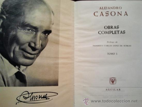 Libros de segunda mano: Alejandro Casona. Obras completas. Aguilar 1961. 2ª edición, 1ª en esta colección. Tomo I y II. - Foto 2 - 38451970