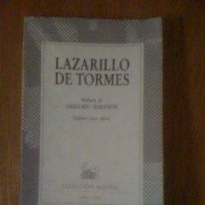 Libros de segunda mano: EL LAZARILLO DE TORMES (ANÓNIMO). ESPASA CALPE (AUSTRAL 156), 1986. Lote 38603281