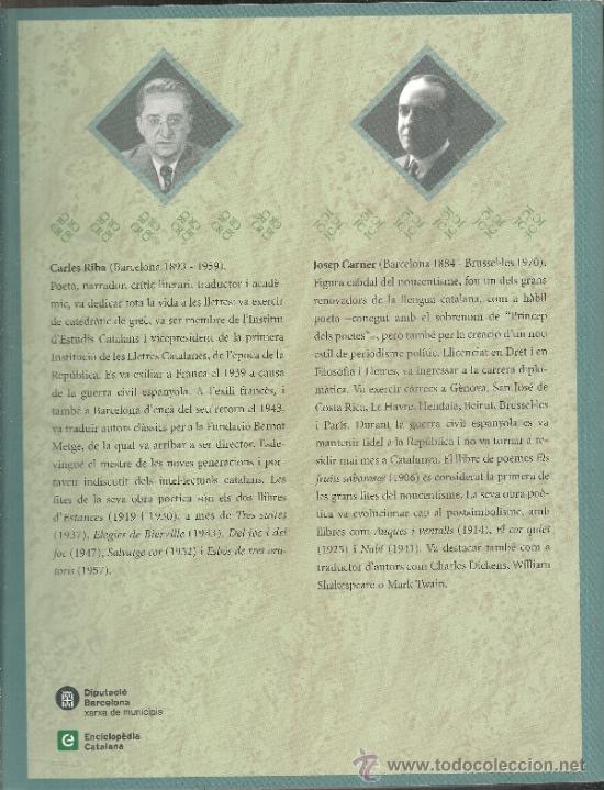 Libros de segunda mano: Josep Carner i Carles Riba. Laventura de dos poetes / Prol. i sel. J. Molas. BCN : Proa, 2003. 2 v. - Foto 2 - 38667567
