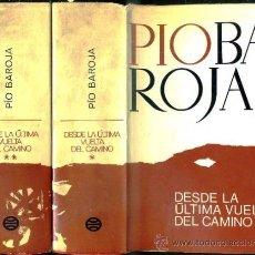 Libros de segunda mano: PÍO BAROJA : DESDE LA ÚLTIMA VUELTA DEL CAMINO - MEMORIAS (PLANETA, DOS TOMOS, 1970). Lote 38819503