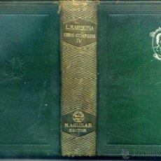 Libros de segunda mano: MARQUINA : OBRAS COMPLETAS IV (AGUILAR JOYA, 1944) 1ª EDICIÓN. Lote 39310618
