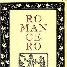 Livres d'occasion: ROMANCERO BIBLIOTECA DE PLATA CLASICOS ESPAÑOLES. CIRCULO DE LECTORES. Lote 39393016
