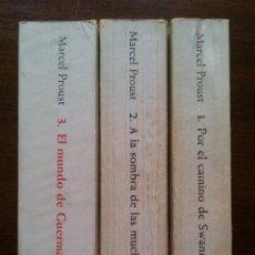 Libros de segunda mano: EN BUSCA DEL TIEMPO PERDIDO (3 PRIMEROS TOMOS DE 7). MARCEL PROUST. ALIANZA EDITORIAL. 1971-75. Lote 39650272