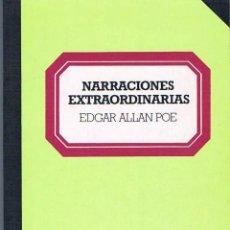Libros de segunda mano: NARRACIONES EXTRAORDINARIAS. EDGAR ALLAN POE. Lote 39722458