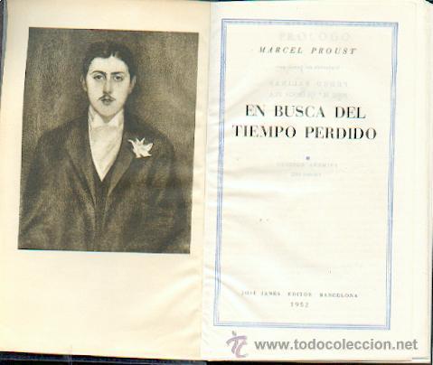 1ª EDICIÓN EN BUSCA DEL TIEMPO PERDIDO, MARCEL PROUST (Libros de Segunda Mano (posteriores a 1936) - Literatura - Narrativa - Clásicos)