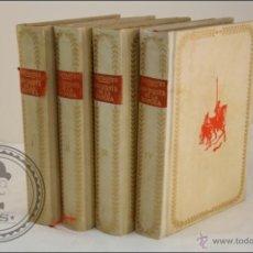 Libros de segunda mano: DON QUIJOTE DE LA MANCHA - EDICIÓN 4º CENTENARIO EDICIONES CASTILLA - TAPAS PERGAMINO - 4 TOMOS. Lote 40125833