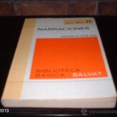 Libros de segunda mano: LIBRO 44 DE BIBLIOTECA BÁSICA SALVAT. NARRACIONES, DE CHEJOV. LIBRO RTV. Lote 40240054