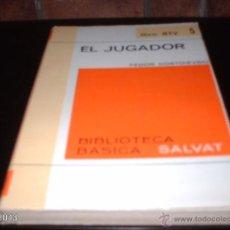 Libros de segunda mano: LIBRO 5 DE BIBLIOTECA BÁSICA SALVAT. EL JUGADOR, DE DOSTOIEVSKI. LIBRO RTV. Lote 40240239
