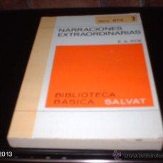 Libros de segunda mano: LIBRO 3 DE BIBLIOTECA BÁSICA SALVAT. NARRACIONES EXTRAORDINARIAS, DE E. A. POE. LIBRO RTV. Lote 40240410