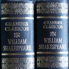 Libros de segunda mano: WILLIAM SHAKESPEARE.-OBRAS COMPLETAS TOMO I Y II,. Lote 40519036