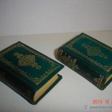 Libros de segunda mano: DON QUIJOTE DE LA MANCHA-DOS VOLÚMENES MINIATURA. Lote 40673600