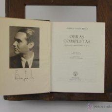 Libros de segunda mano: 4157- FEDERICO GARCIA LORCA OBRAS COMPLETAS. EDIT. AGUILAR. 1955. . Lote 40923888