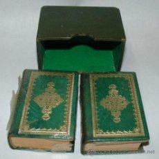 Libros de segunda mano: DON QUIJOTE DE LA MANCHA MINI LIBROS 2 TOMOS 1952 DON QUIJOTE DE LA MANCHA 3ª EDICIÓN. Lote 41132454