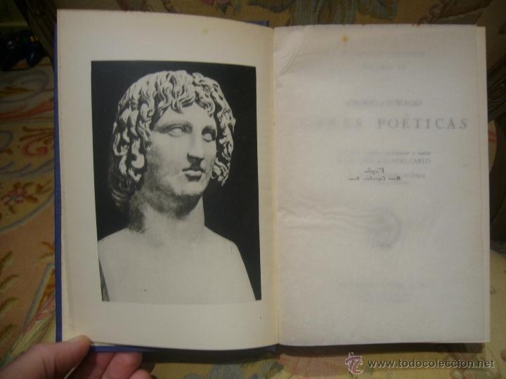 Libros de segunda mano: OBRAS POETICAS, DE VIRGILIO Y HORACIO. EDITORIAL EXITO, 1ª EDICION 1.957. - Foto 3 - 41518435
