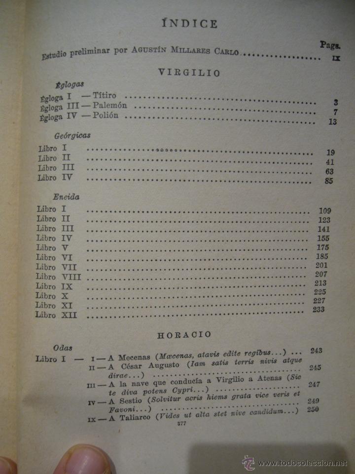 Libros de segunda mano: OBRAS POETICAS, DE VIRGILIO Y HORACIO. EDITORIAL EXITO, 1ª EDICION 1.957. - Foto 4 - 41518435