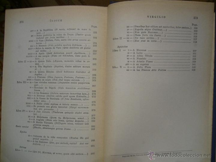 Libros de segunda mano: OBRAS POETICAS, DE VIRGILIO Y HORACIO. EDITORIAL EXITO, 1ª EDICION 1.957. - Foto 5 - 41518435