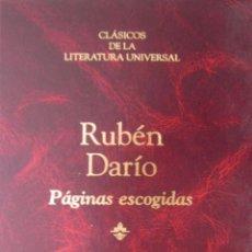 Libros de segunda mano: PÁGINAS ESCOGIDAS. RUBEN DARIO. Lote 42115418