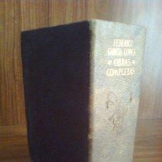 Libros de segunda mano: FEDERICO GARCÍA LORCA - OBRAS COMPLETAS - EDITORIAL AGUILAR 1969 - PLENA PIEL - 2018 PÁGINAS. Lote 42336796