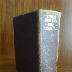 Libros de segunda mano: FEDERICO GARCÍA LORCA - OBRAS COMPLETAS - AGUILAR 1955 (2ª EDICIÓN) PLENA PIEL. Lote 42769693