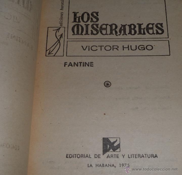 Libros de segunda mano: Los Miserables - 5 tomos - Editorial de Arte y literatura (1973) - Foto 2 - 42796329
