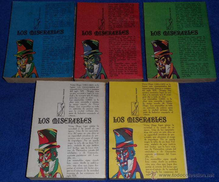 Libros de segunda mano: Los Miserables - 5 tomos - Editorial de Arte y literatura (1973) - Foto 4 - 42796329