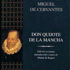 Libros de segunda mano: DON QUIJOTE DE LA MANCHA MIGUEL DE CERVANTES. Lote 43035225