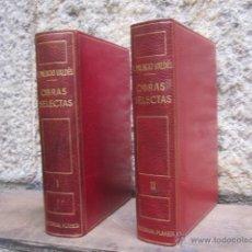 Libros de segunda mano: ARMANDO PALACIO VALDES - OBRAS SELECTAS - EDI PLANETA 1ª 1963 - DOS TOMOS COMPLETA. Lote 43103002