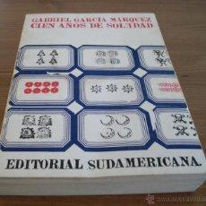 Libros de segunda mano: CIEN AÑOS DE SOLEDAD ED. SUDAMERICANA BUENOS AIRES AÑO 1972 EDICION DE 5000 EJEMPLARES. Lote 103985382