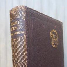Libros de segunda mano: 1945.- OBRAS COMPLETAS. VIRGILIO Y HORACIO. AGUILAR. CRISOL. Lote 43522965