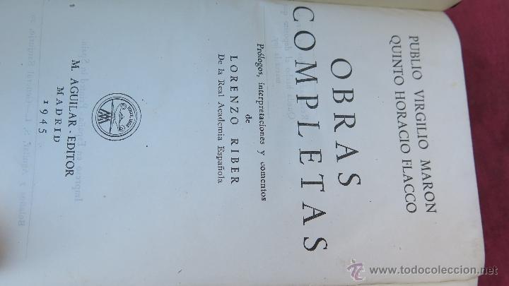 Libros de segunda mano: 1945.- OBRAS COMPLETAS. VIRGILIO Y HORACIO. AGUILAR. CRISOL - Foto 4 - 43522965