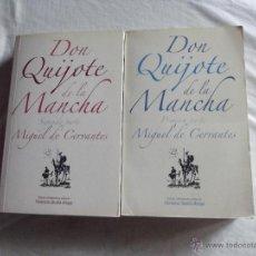 Libros de segunda mano: DON QUIJOTE DE LA MANCHA DE MIGUEL DE CERVANTES 2 TOMOS. Lote 43963815