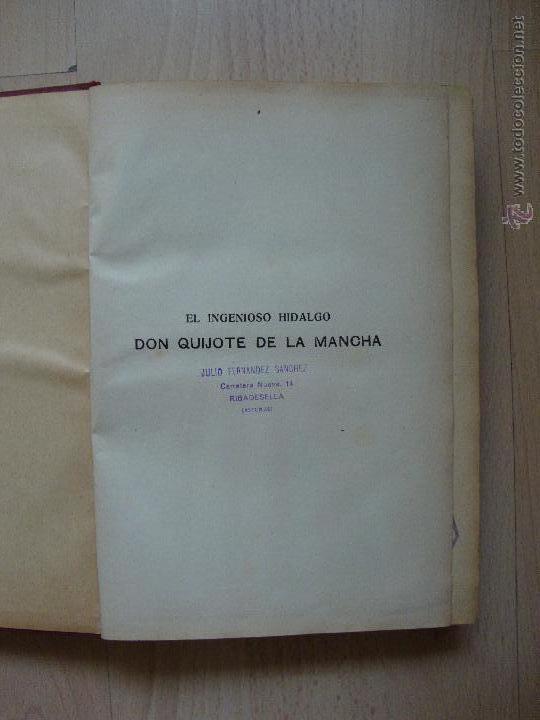 Libros de segunda mano: El ingenioso hidalgo Don Quijote de la Mancha - Foto 2 - 43991694