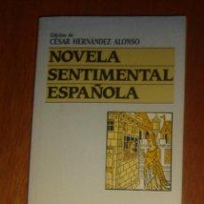Libros de segunda mano: NOVELA SENTIMENTAL ESPAÑOLA, DE CÉSAR HERNÁNDEZ ALONSO. PLAZA & JANÉS, 1987. Lote 44109382
